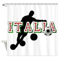 Italian Football Player Shower Curtain