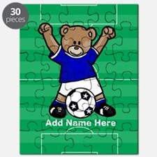 Personalized kids soccer bear Puzzle