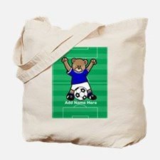 Personalized kids soccer bear Tote Bag