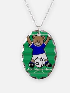 Personalized kids soccer bear Necklace