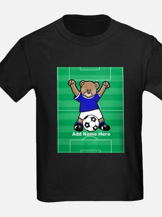 Personalized kids soccer bear T