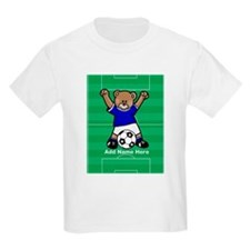 Personalized kids soccer bear T-Shirt