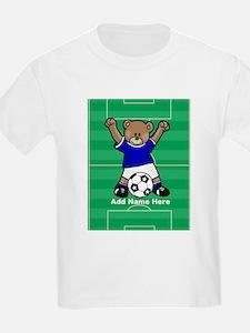 Personalized kids soccer bear T-Shirt