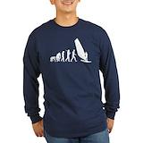 Windsurf evolution Long Sleeve T-shirts (Dark)