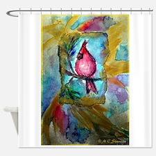 Cardinal, red bird art! Shower Curtain