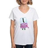 Alphablocks Womens V-Neck T-shirts
