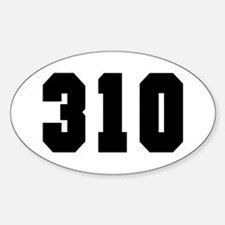 """""""310"""" Oval Decal"""