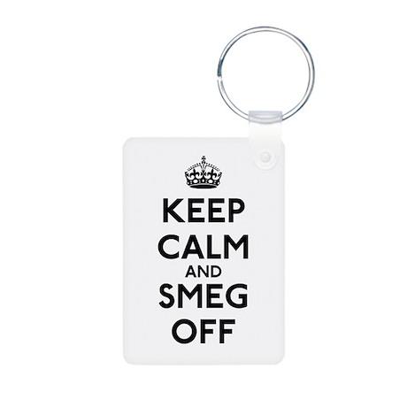 Keep Calm And Smeg Off Aluminum Photo Keychain