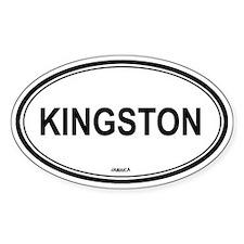 Kingston, Jamaica euro Oval Decal