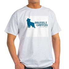 "Brussels Griffon ""One Cool Dog"" Ash Grey T-Shirt"