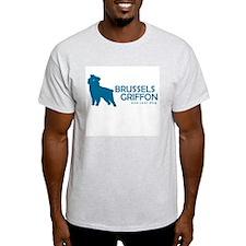 """Brussels Griffon """"One Cool Dog"""" Ash Grey T-Shirt"""