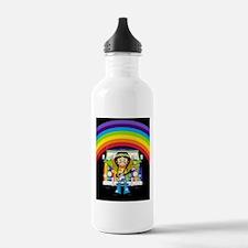 Hippie and Camper Van Water Bottle