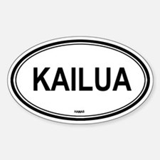 Kailua (Hawaii) Oval Decal