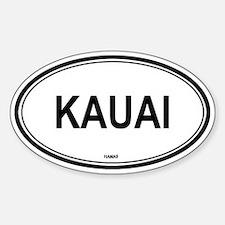 Kauai (Hawaii) Oval Bumper Stickers