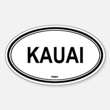 Kauai (Hawaii) Oval Decal