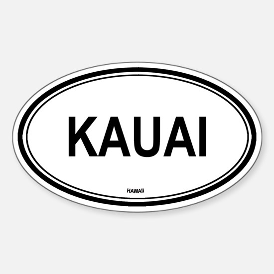 Kauai (Hawaii) Oval Decal