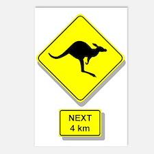 Kangaroos Road Sign Postcards (Package of 8)