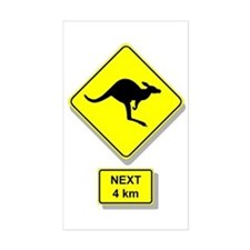 Kangaroos Road Sign Rectangle Decal
