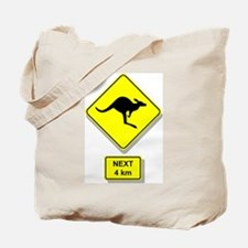 Kangaroos Road Sign Tote Bag