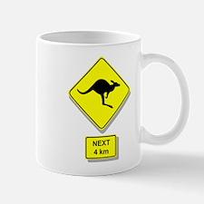 Kangaroos Road Sign Mug