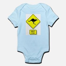 Kangaroos Road Sign Infant Creeper