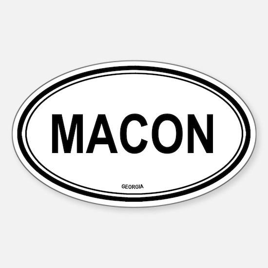 Macon (Georgia) Oval Decal