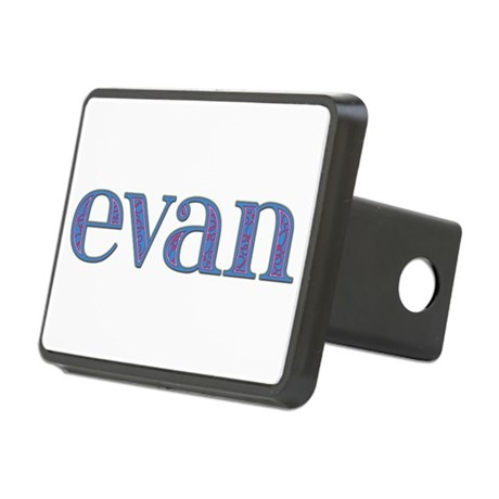 Evan Blue Glass Rectangular Hitch Cover