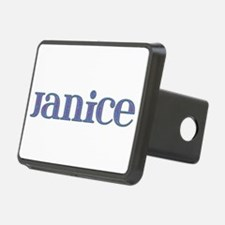 Janice Blue Glass Hitch Cover