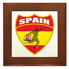 Spain World Cup Soccer Framed Tile