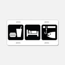 Eat Sleep Fish Aluminum License Plate