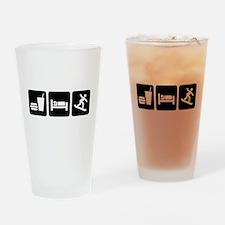 Eat Sleep Snowboard Drinking Glass