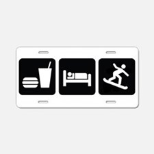 Eat Sleep Snowboard Aluminum License Plate