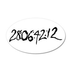 End Of World 20x12 Oval Wall Decal