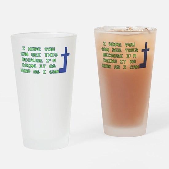Mooninite Finger Drinking Glass