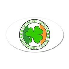 Irish Drinking Team 35x21 Oval Wall Decal