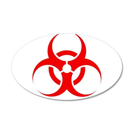 Biohazard 20x12 Oval Wall Decal
