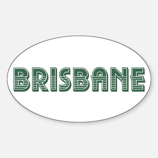 Brisbane Sticker (Oval)