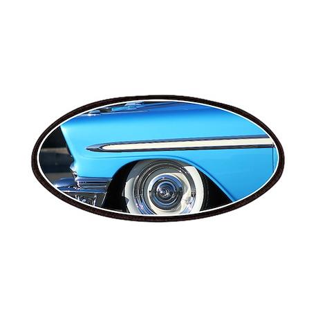 Classic blue car Patches