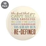 "Marriage Re-Defined 3.5"" Button (10 pack)"