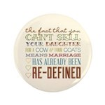"Marriage Re-Defined 3.5"" Button"