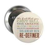 "Marriage Re-Defined 2.25"" Button (100 pack)"