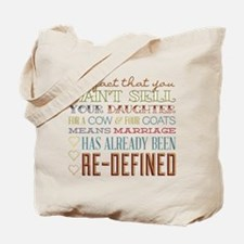Marriage Re-Defined Tote Bag