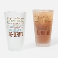 Marriage Re-Defined Drinking Glass