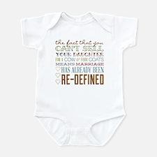 Marriage Re-Defined Infant Bodysuit