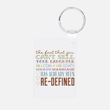 Marriage Re-Defined Keychains