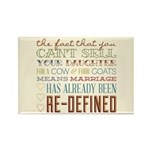 Marriage Re-Defined Rectangle Magnet (100 pack)
