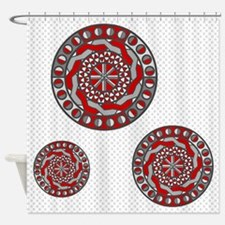 Red Machinery Shower Curtain