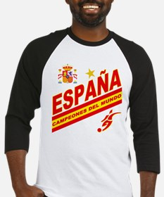 Spain World Cup Soccer Baseball Jersey