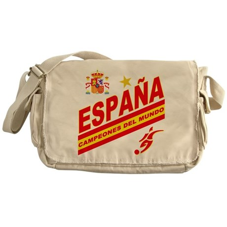 Spain World Cup Soccer Messenger Bag