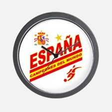 Spain World Cup Soccer Wall Clock